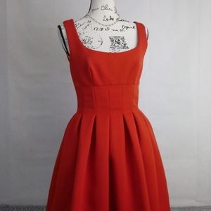 80s Vintage AJ Bari Red Party Dress with Pockets 6